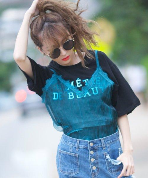 画像1: オーバーシルエットロゴTシャツ (1)