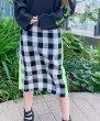 画像4: チェックサイドラインスカート (4)